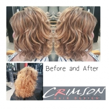 Before and after of my lovely client.  A fresh color and cut can be life changing. 😉#crimsonhairdesign #redkensalon #redken #redkensalon #regina #yqrhair #yqrstylist #yqr #besthair #bestsalon #redkencanada #curls #behindthechair #amazinghair #makingth