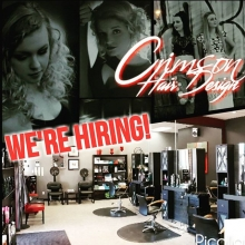 Are you ready to take the next step in your career?  We have a chair available and are looking for a experienced, passionate stylist to join our team.  Crimson is a Redken salon with a great atmosphere, a positive work environment and plenty of opportunit