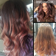 #rosegold today for this beauty. #crimsonhairdesign #reginasalon #redken #hdresolution #shadeseq #balayage #yqrhair #yqrsalon #regina #stylist #beforeandafter #besthair #behindthechair