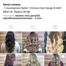 Give @styles.by.stevie a like and follow!  She's amazingly talented and we love having her as part of our team.  She is currently accepting new clients. 306-790-9111  #reginasalon #yqrstylist #salonfamily #redken