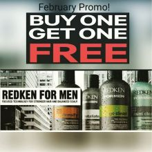 For the month of February we are offering buy one get one free on all #Redken for Men products!  While supplies last! . . . #crimsonhairdesign #redkenformen #sale #bogo #regina #salon #thebesthairproducts