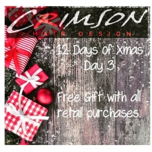 On the third day of Christmas... Today only. Receive a free gift with every retail purchase.  If you have been thinking of stopping by to pick up some Christmas goodies.... today is the day!