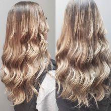 Hard to believe this was only one lightening session from warm chocolate brown!  Thank the hair gods and #redken for this one. . . . . #crimsonhairdesign #flashlift #shadeseq #longhair #summerhair  #ashblonde #redkencanada #summitsalonservices #regina #yq