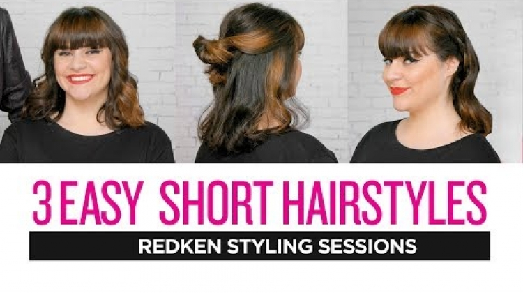 Redken Styling Sessions: 3 Easy Short Hairstyles