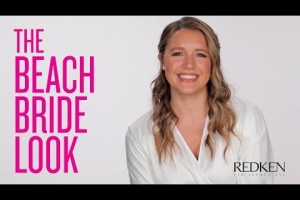 Half Up Half Down Wedding Hair for the Beach Bride |  Redken Bridal Hairstyles